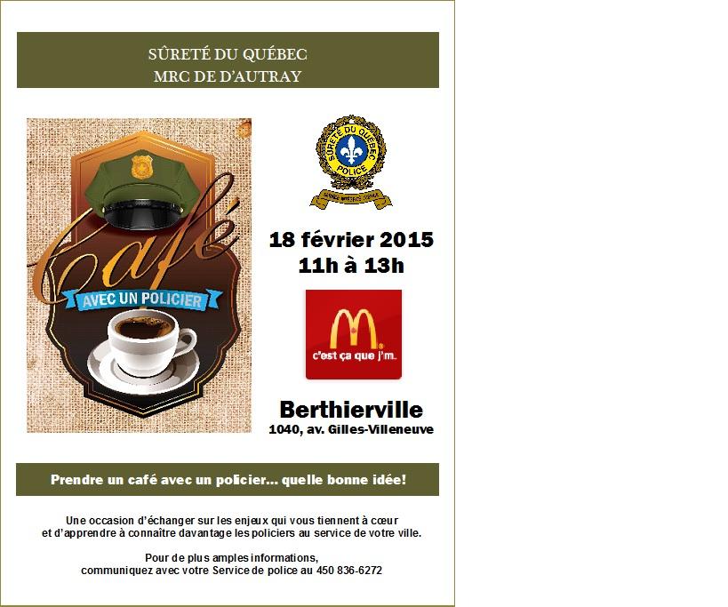 Tenue de l 39 activit prendre un caf avec un policier - Que faire avec du marc de cafe dans le jardin ...
